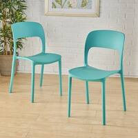 Kipford Indoor Plastic Chair (Set of 2) by Christopher Knight Home