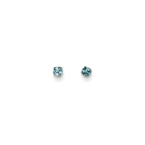d1f1e7015 Shop Curata 14k White Gold 3mm Aquamarine Stud Earrings - On Sale - Free  Shipping Today - Overstock - 22927038