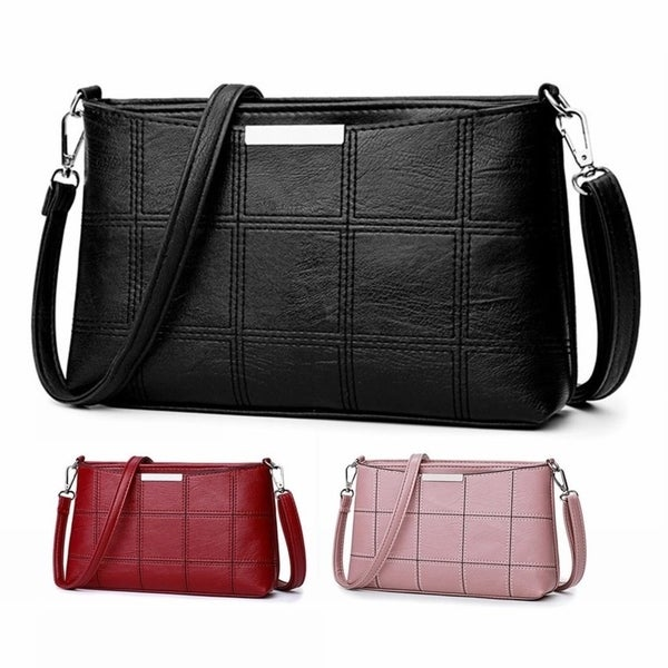 1410ad7426b06 Shop Solid Color Small Envelope Bag Soft PU Leather Casual Messenger ...