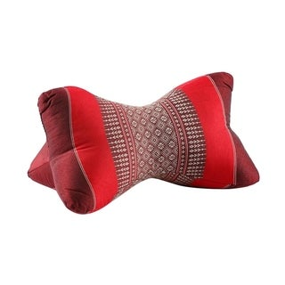 My Zen Home Star Kapok Back and Neck Support Pillow - Red and Burgundy