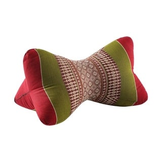 My Zen Home Star Kapok Back and Neck Support Pillow - Army Red