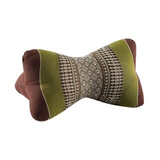 My Zen Home Star Kapok Back and Neck Support Pillow - Sage and Brown