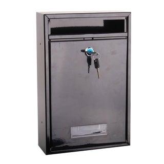 SereneLife Indoor/Outdoor Wall Mount Locking Mailbox, Includes Keys