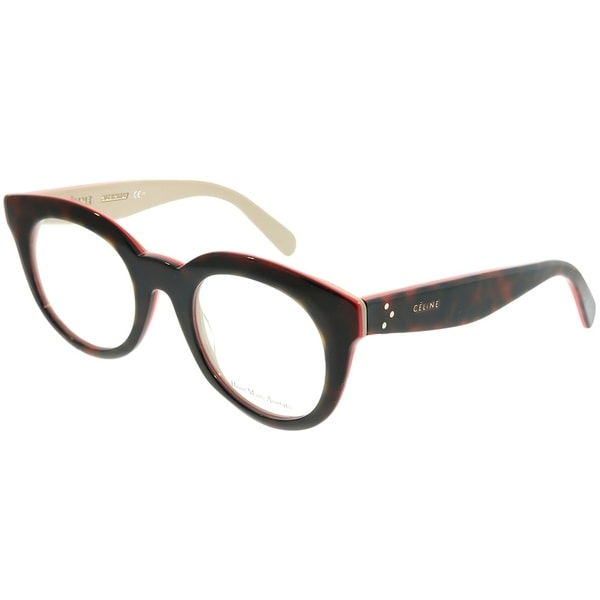 be69671b24b Celine Square CL 41363 Clara A26 Unisex Havana Red Beige Frame Eyeglasses