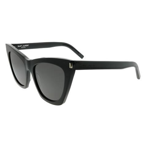 Saint Laurent Cat-Eye SL 214 Kate 001 Women Black Frame Grey Lens Sunglasses