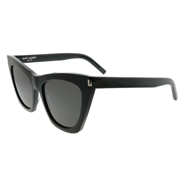 31350af08ced Shop Saint Laurent Cat-Eye SL 214 Kate 001 Women Black Frame Grey Lens  Sunglasses - Free Shipping Today - Overstock - 22927855