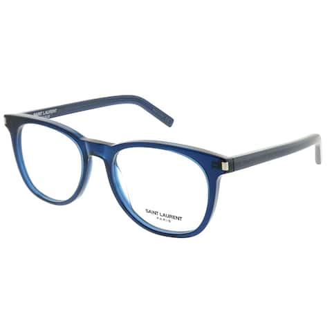 Saint Laurent Square SL 225 004 Unisex Blue Frame Eyeglasses