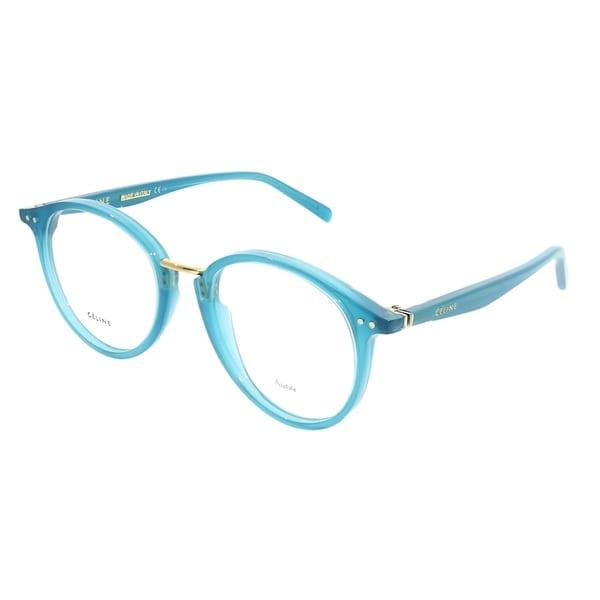 42bf640033 Celine Round CL 41406 Twig Arch 21H Unisex Teal Frame Eyeglasses