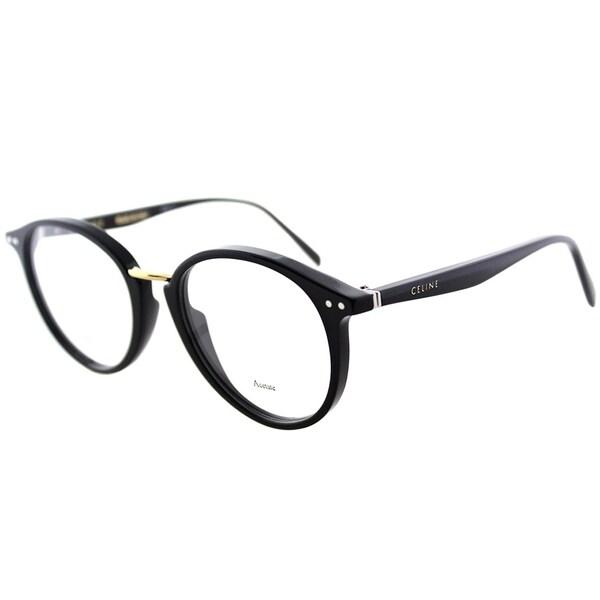 57d091f12677 Celine Round CL 41406 Twig Arch 807 Unisex Black Frame Eyeglasses