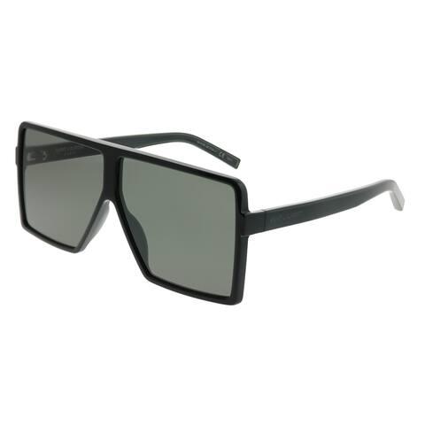1d5cf794f79 Saint Laurent Square SL 183 Betty S 001 Unisex Black Frame Grey Lens  Sunglasses