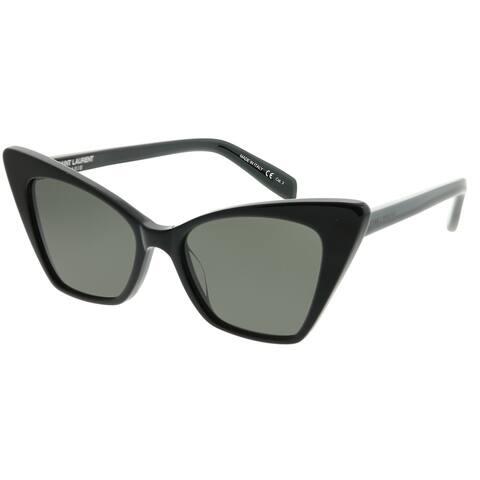 bae09f487f Saint Laurent Cat-Eye SL 244 Victoire 001 Women Black Frame Grey Lens  Sunglasses