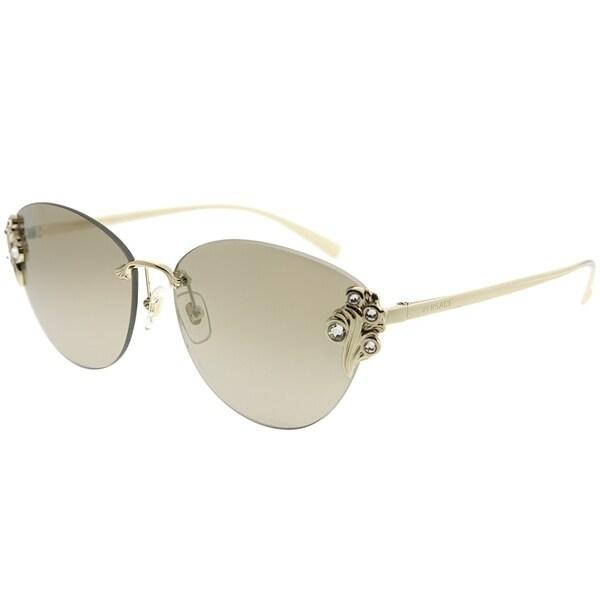 8af22ec87cf0 Versace Cat-Eye VE 2196B 12527I Women Pale Gold Frame Gold Mirror Gradient  Lens Sunglasses