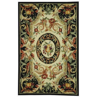 Safavieh Hand-hooked Chelsea Crysta Country Oriental Wool Rug (26 x 4 - Black)