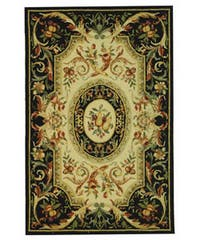 "Safavieh Hand-hooked Fruit Harvest Black Wool Area Rug - 3'9"" x 5'9"""