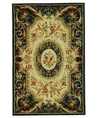 Safavieh Hand-hooked Fruit Harvest Black Wool Area Rug - 6' x 9'