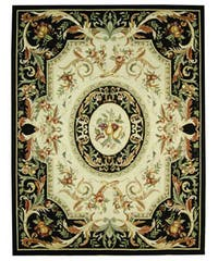 Safavieh Hand-hooked Fruit Harvest Black Wool Rug - 8'9 X 11'9