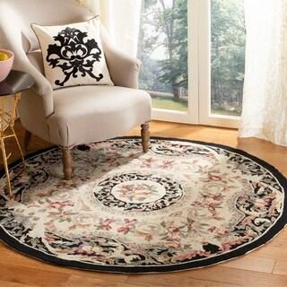Safavieh Hand-hooked Chelsea Crysta Country Oriental Wool Rug (8 x 8 Round - Black)
