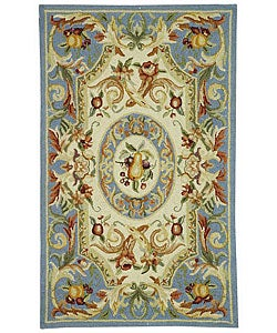 Safavieh Hand-hooked Fruit Harvest Blue Wool Runner (2'6 x 4')