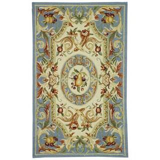 Safavieh Hand-hooked Chelsea Crysta Country Oriental Wool Rug (26 x 4 - Blue)