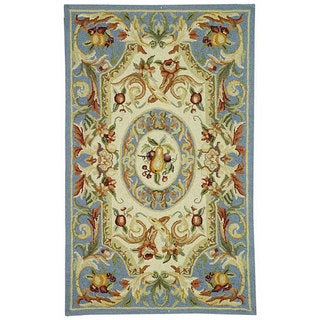 Safavieh Hand-hooked Chelsea Crysta Country Oriental Wool Rug (53 x 83 - Blue)