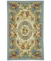 Safavieh Hand-hooked Fruit Harvest Blue Wool Rug - 6' x 9'