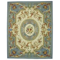 "Safavieh Hand-hooked Fruit Harvest Blue Wool Rug - 7'-9"" x 9'-9"""