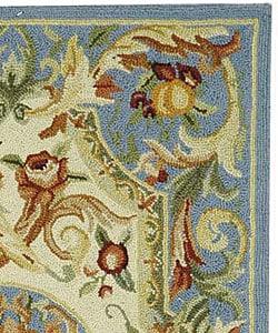 Safavieh Hand-hooked Fruit Harvest Blue Wool Rug (8'9 x 11'9) - Thumbnail 1