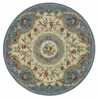 Safavieh Hand-hooked Chelsea Crysta Country Oriental Wool Rug (8 x 8 Round - Blue)