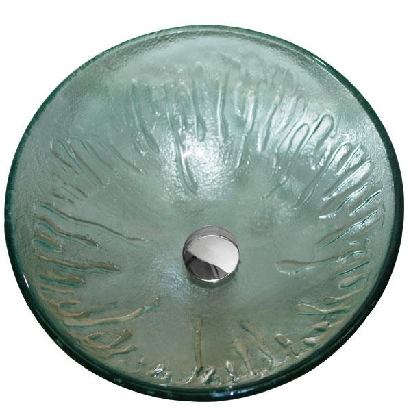 VIGO Icicles Glass Vessel Bathroom Sink