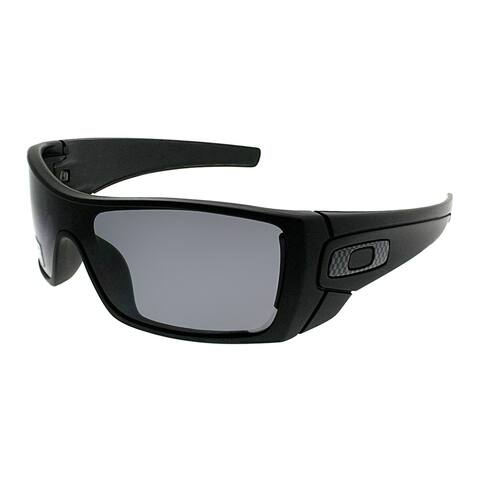 Oakley Sport OO 9101 Batwolf 910104 Unisex Matte Black Frame Grey Polarized Lens Sunglasses