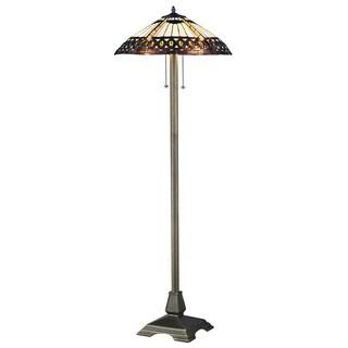Amberjack Tiffany-style Floor Lamp