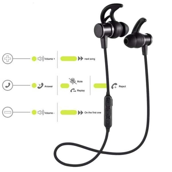 Shop Wireless Bluetooth Magnet Sport Stereo Headset With Sl100 Free Shipping On Orders Over 45 Overstock 22952897