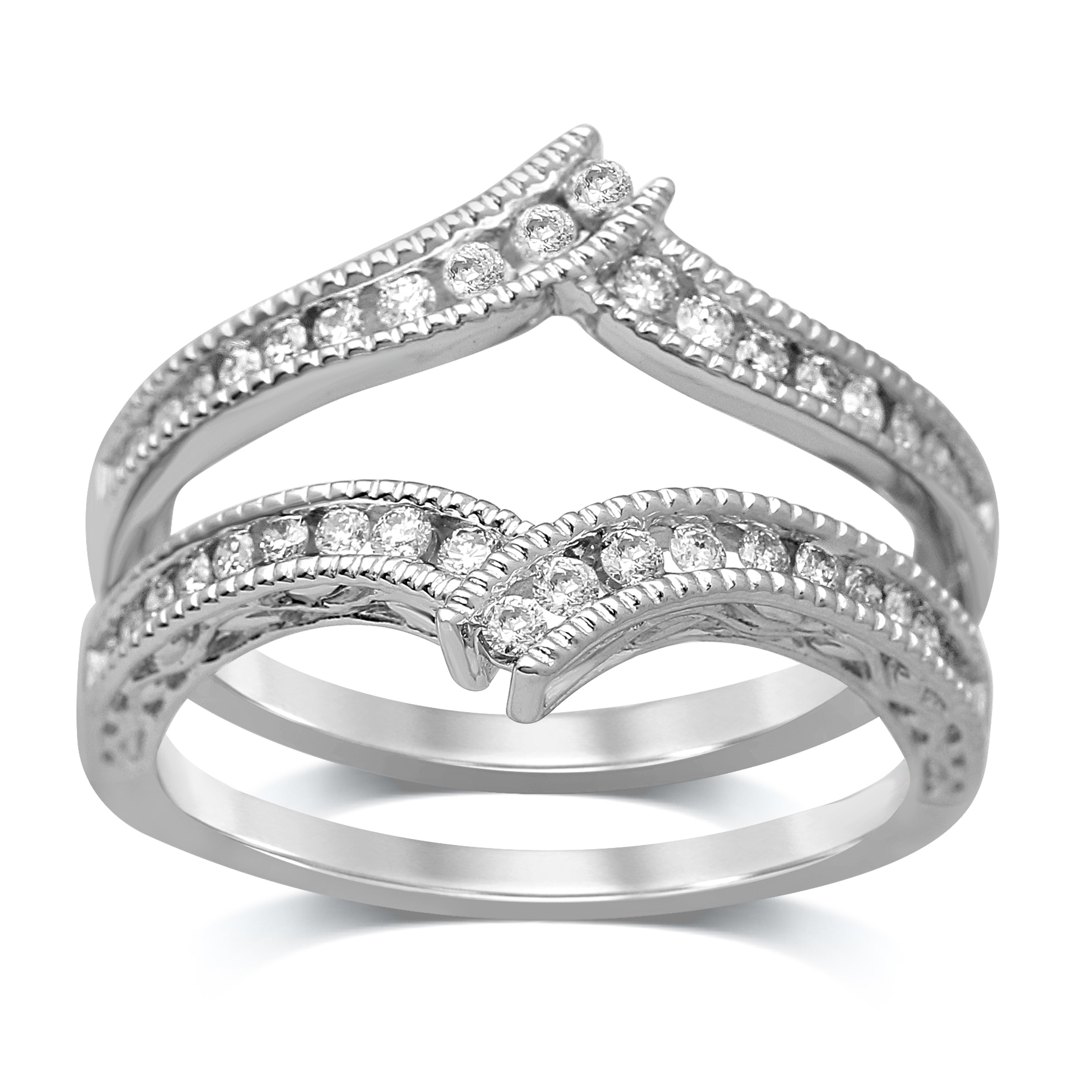 Shop Unending Love 14k Gold 3 8ct Tdw Diamond Enhancer Wrap Ring