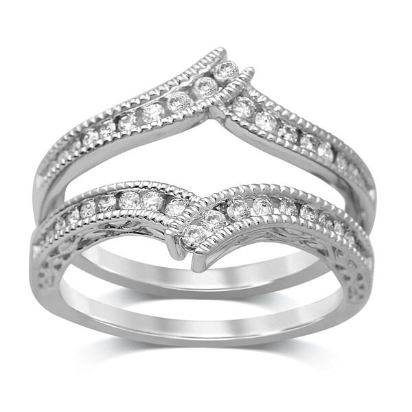 Unending Love 14k Gold 3/8ct TDW Diamond Enhancer Wrap Ring