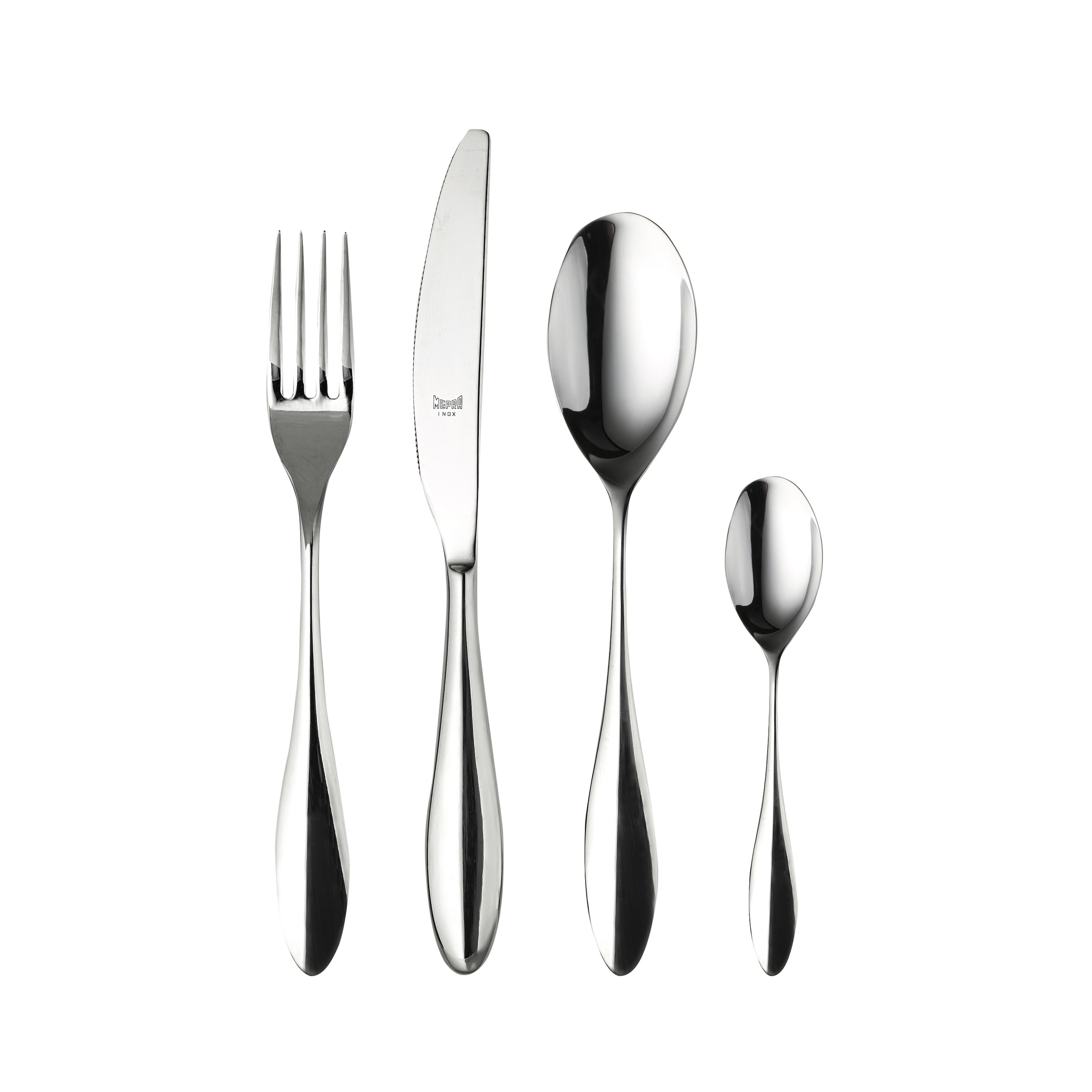 24 Piece Stainless Steel Carinzia Flatware Set Service For 6 Overstock 22963600