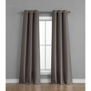 Link to Raw Faux Silk Grommet 76 in. x 84 in. Curtain Panel Pair Similar Items in Window Treatments