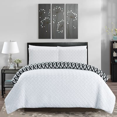 Chic Home Sabina 7 Piece Reversible Bed in a Bag Comforter Set