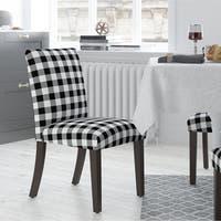 Shop Homepop Parsons Dining Chair Black Plaid Set Of 2
