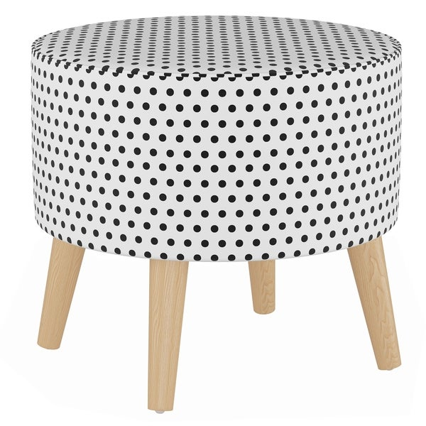 Shop Skyline Furniture Round Ottoman With Splayed Legs In