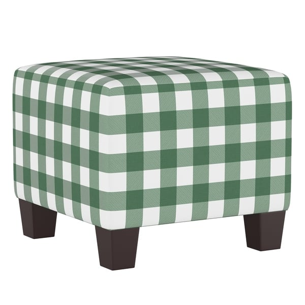 Stupendous Shop Skyline Furniture Square Ottoman In Classic Gingham Beatyapartments Chair Design Images Beatyapartmentscom