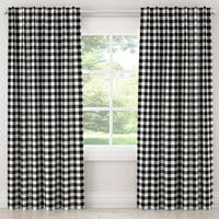 Skyline Furniture Blackout Curtain in Classic Gingham