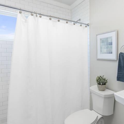 Laura Ashley Peva Shower Curtain Liner, White
