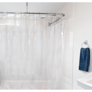 Laura Ashley Peva Shower Curtain Liner, Clear