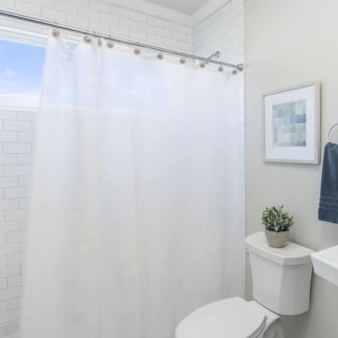 Laura Ashley Peva Shower Curtain Liner, Frosty