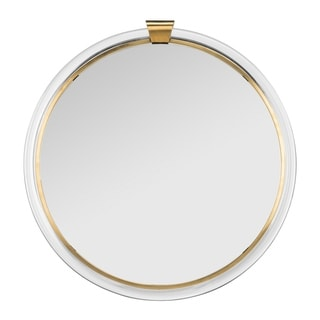 Safavieh Couture Donzel Acrylic Mirror - Clear - Brass - 26 In W x 26 In D x 1.19 In H