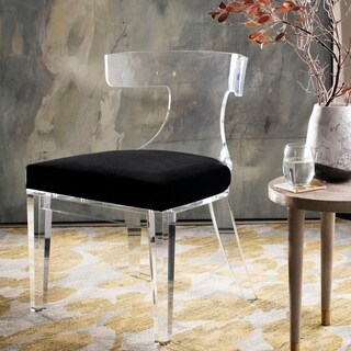 Safavieh Couture Rhys Lucite Dining Chair - Clear / Black - 18.5 in w x 21.5 in d x 31.25 in h
