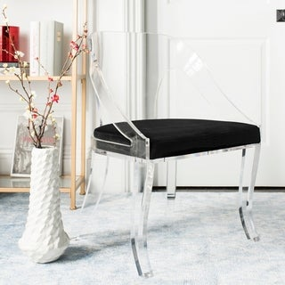 """Safavieh Couture Sabina Lucite Dining Chair - Clear / Black - 22.3""""x18.7""""x31.7"""""""
