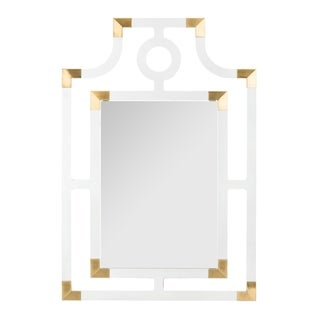 Safavieh Couture Analiz Acrylic Mirror - Clear - Brass - 24 In W x 35 In D x 0.59 In H