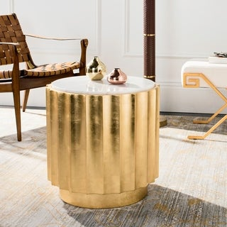 Safavieh Couture Elodie Gold Side Table- Gold - 20 in w x 20 in d x 20 in h