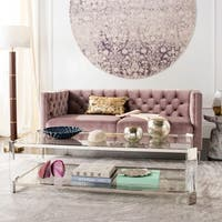 Safavieh Couture Gianna Glass Coffee Table- Clear - 58 in w x 26 in d x 16 in h